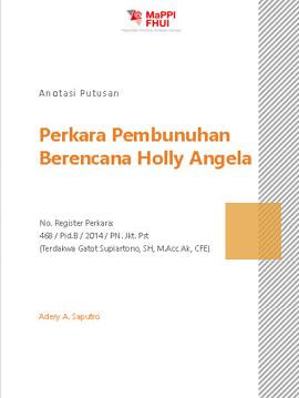 Perkara Pembunuhan Berencana Holly Angela