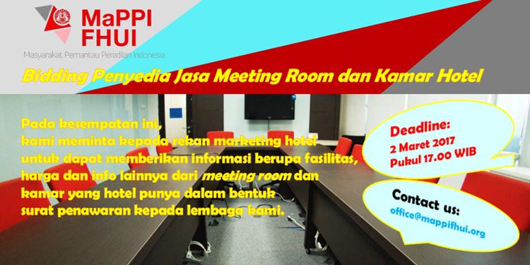 Bidding Penyedia Jasa Meeting Room dan Kamar Hotel