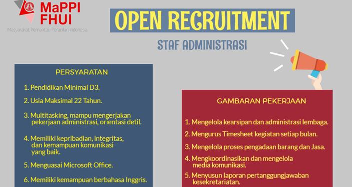 Oprec Staff Administrasi MaPPI 2017 slide