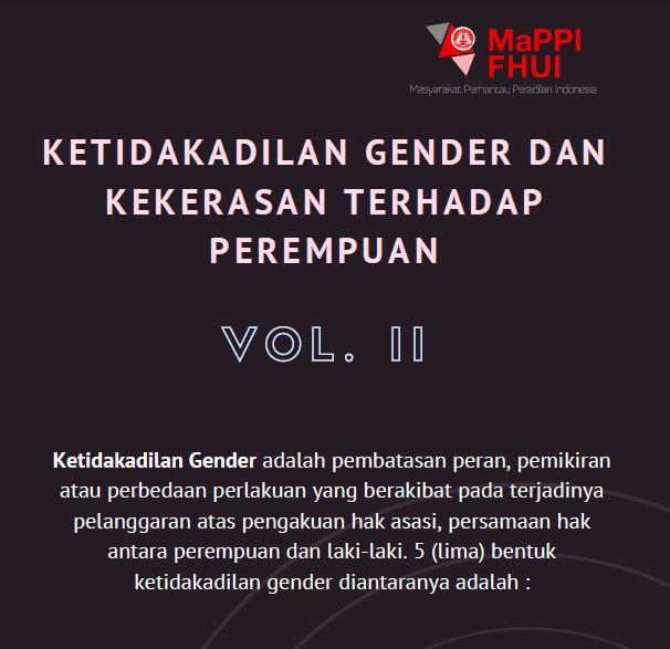 Ketidakadilan Gender Kekerasan Terhadap Perempuan Vol Ii Mappi Fhui